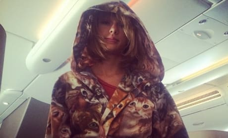 Taylor Swift Cat Robe