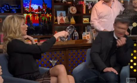Brandi Glanville Throws Wine on Watch What Happens Live!