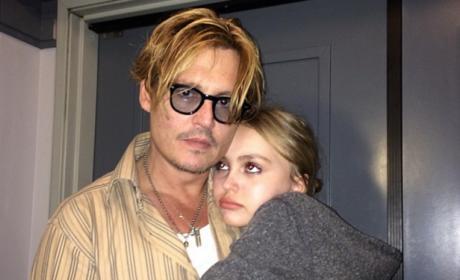 Johnny Depp and Lily-Rose Depp