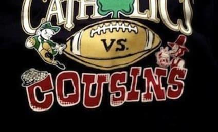 "Jimmy Clausen T-Shirt Hypes National Championship Game as ""Catholics vs. Cousins"""