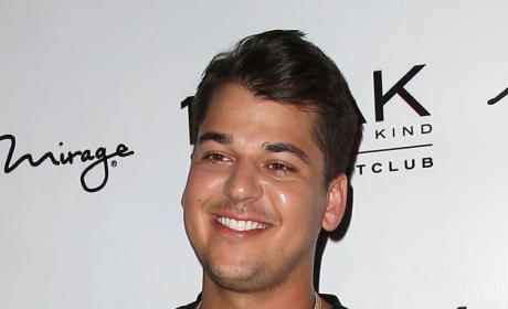 Rob Kardashian Smiling and Laughing
