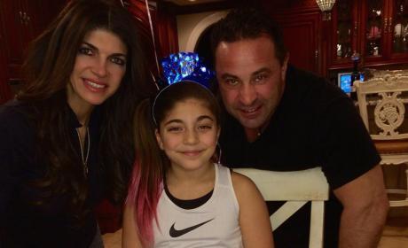 Teresa and Joe Giudice and Daughter