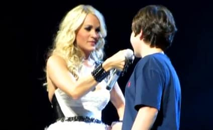 Carrie Underwood Grants Young Fan First Kiss [Video]