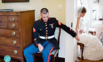 Photo of Couple Holding Hands Around Corner on Wedding Day Goes Viral