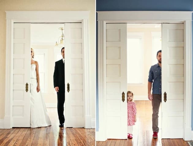 Dad Recreates Wedding Photos with Daughter