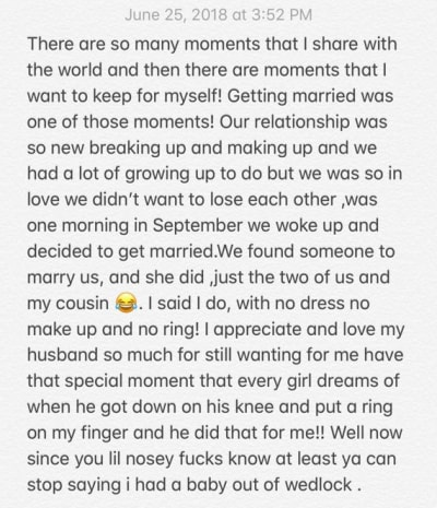 Cardi B Secret Wedding Confession