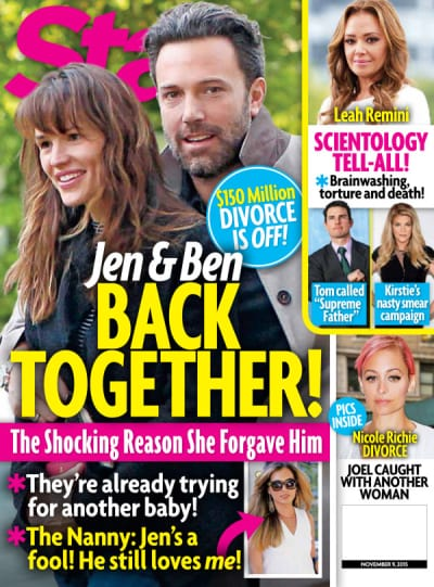 Ben Affleck and Jennifer Garner Star Magazine Cover