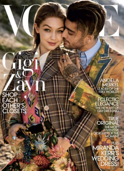 Gigi Hadid and Zayn Malik Vogue Cover