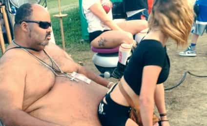 Woman Twerks on Man's ENORMOUS Belly: Watch If You Dare!