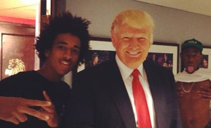 Donald Trump: Photo Bombed By Tyler the Creator!