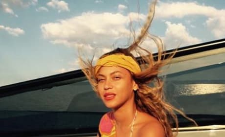 Beyonce on a Boat