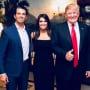 Donald Trump Jr, Kimberly Guilfoyle, and Donald Trump