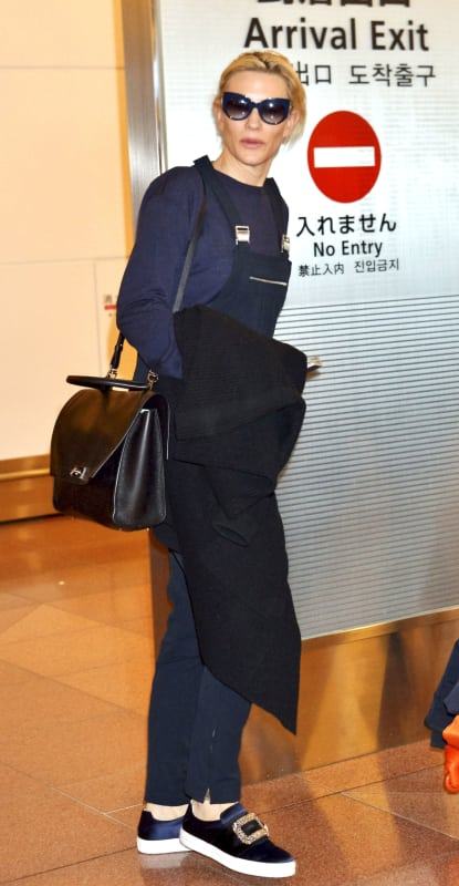 Cate Blanchett Rocks Overalls In Tokyo