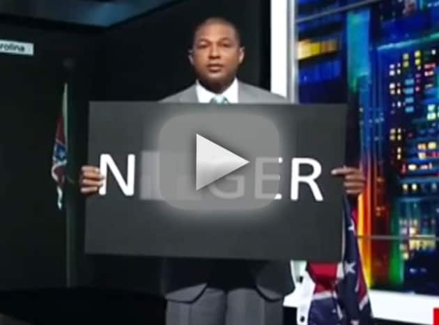Don Lemon Holds Up N-Word Sign on Air