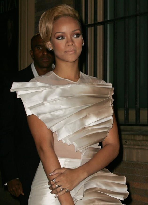 Rihanna in White