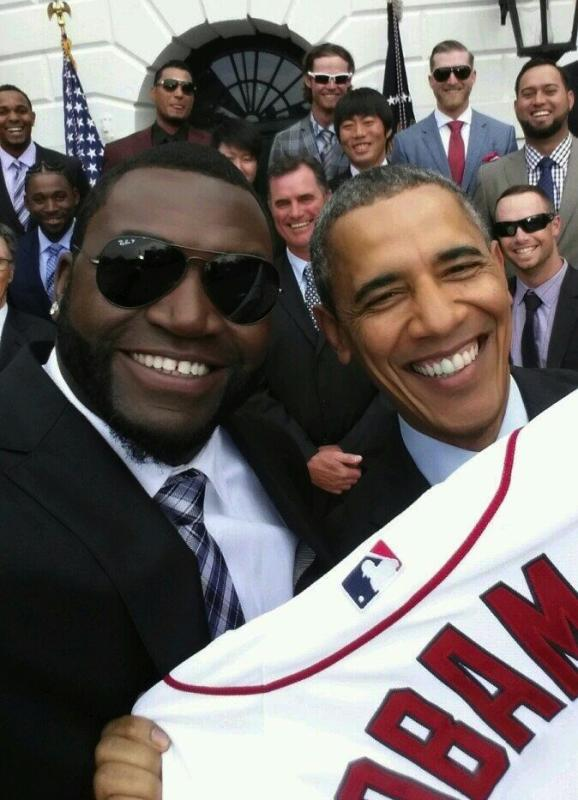 David Ortiz and Barack Obama
