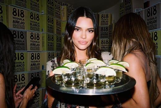 Kendall Jenner Serves Tequila