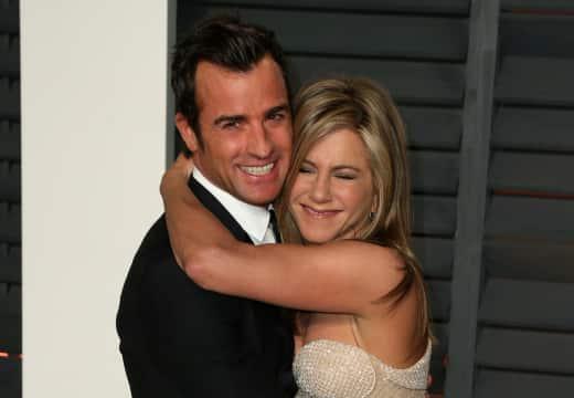 Justin Theroux Hugs Jennifer Aniston