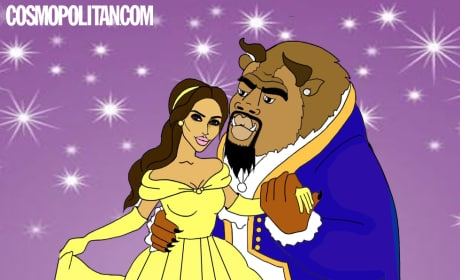 Kim and Kanye in Beauty and the Beast