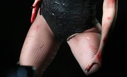 Lady Gaga Outfit of the Week: Fishnets, Little Else