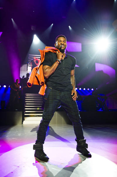 Usher on Stage