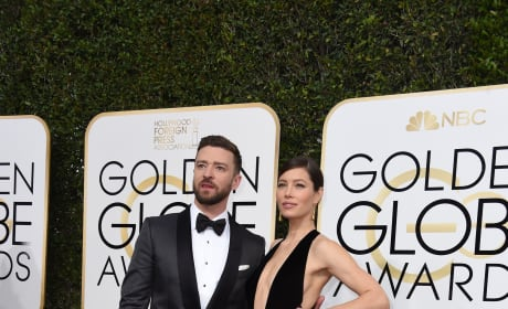 Jessica Biel and Justin Timberlake at the Globes
