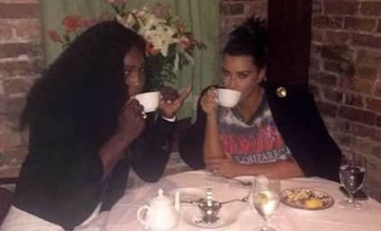Serena Williams Parties With Kim Kardashian on Eve of Big Match Against Venus
