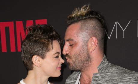 Davey Detail and Rose McGowan Photo