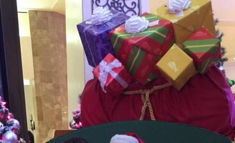 Blac Chyna with Santa Claus