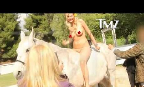 Kate Upton Topless Horse Video