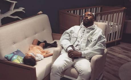 Kanye Sleeps with North