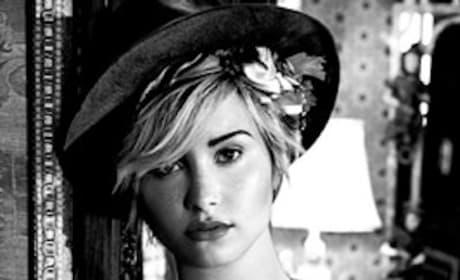 Demi Lovato in Black and White