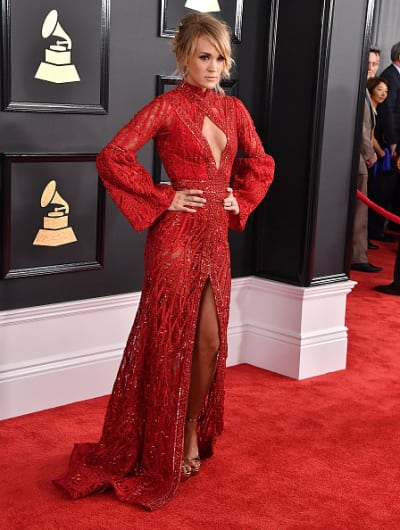 Carrie Underwood at 2017 Grammys