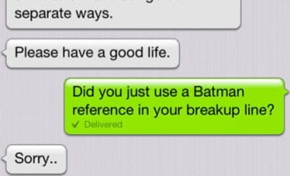 Lazy Breakup Text Uses Batman Quote, Gets Called Out