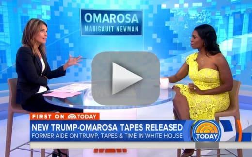 Omarosa snaps at savannah guthrie teases donald trump n word tap