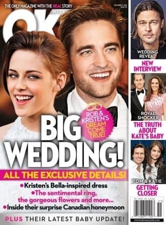 Robert Pattinson and Kristen Stewart OK! Cover