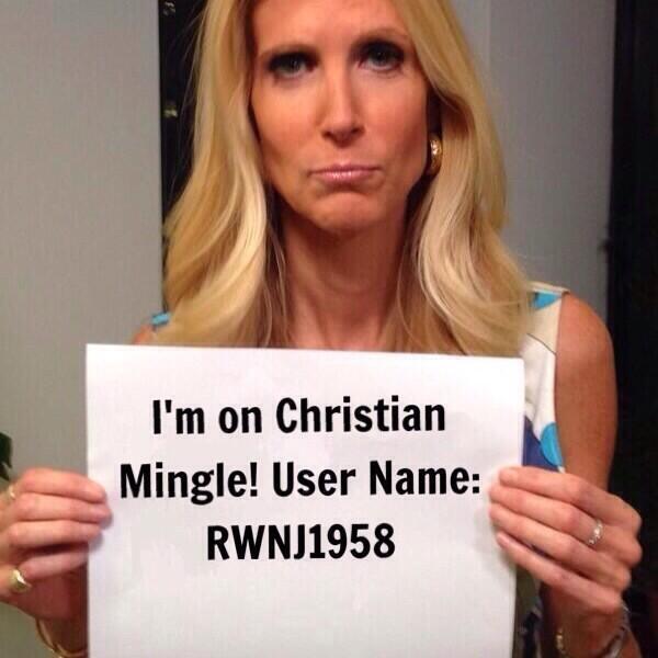 Ann Coulter on Christian Mingle!