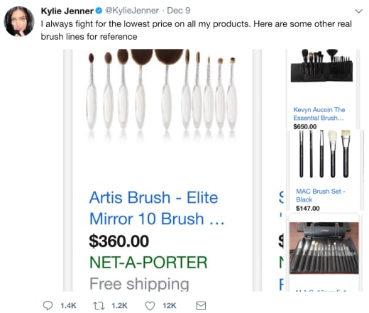 brush prices