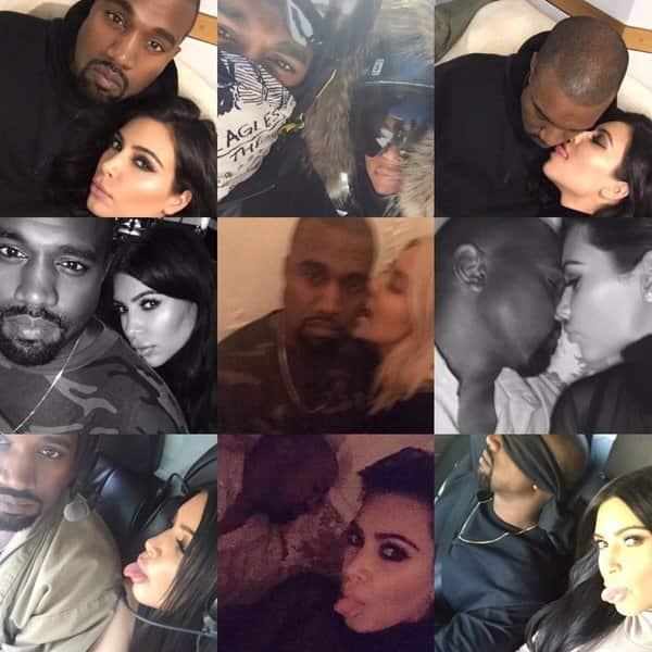 Kim and Kanye Selfies