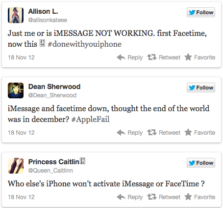 iMessage Tweets