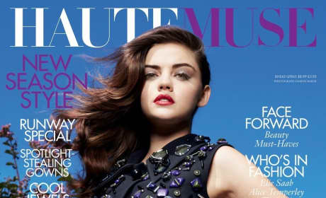Lucy Hale HauteMuse Cover