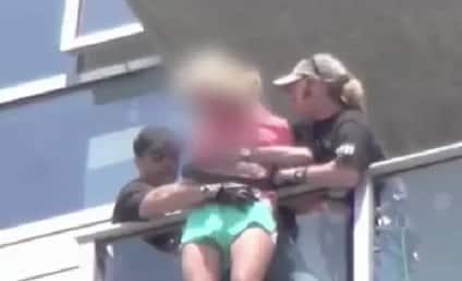 Kick-Ass 2 Stuntmen Rescue Suicidal Woman on Comic-Con Balcony