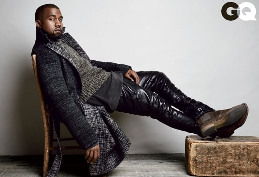 Kanye West in GQ