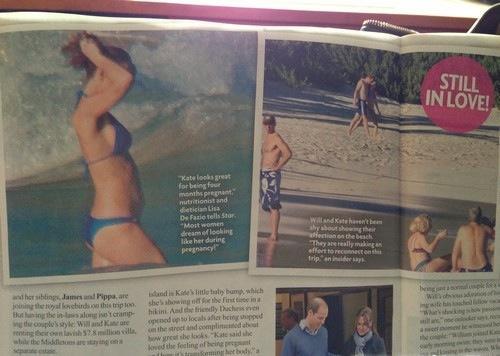 Kate Middleton Pregnant Bikini Pics