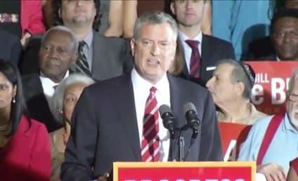 Bill de Blasio Elected Mayor of New York City in Landslide Win