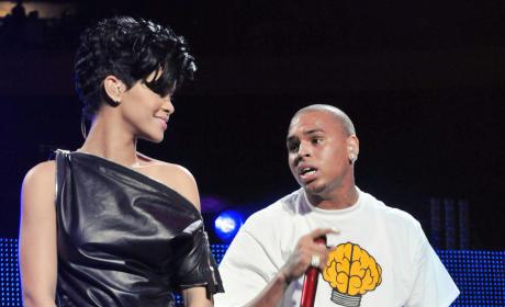 Chris Brown and Rihanna Live