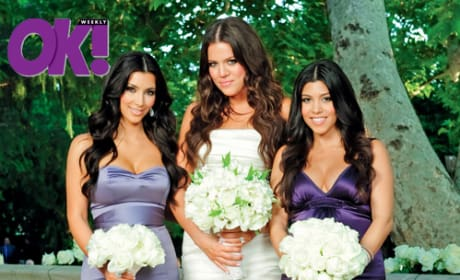 Kourtney, Khloe, Kim Kardashian Wedding Pic