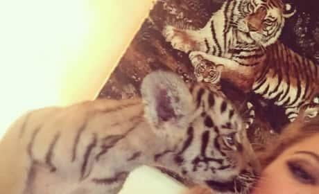 Khloe Kardashian and Baby Tiger