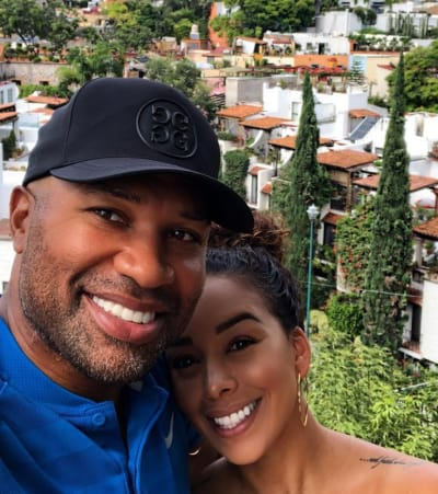 Gloria Govan and Derek Fisher