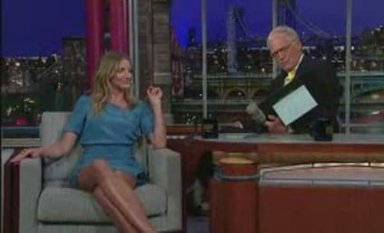 Cameron Diaz Gushes Over A-Rod, Feeds Popcorn to David Letterman